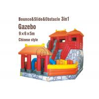 Buy cheap Playground Combo Inflatable Slide Inflatable Jumping Bouncy Castle With Slide from wholesalers