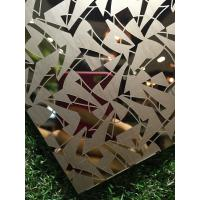 Buy cheap Titanium coated decoraive pattern stainless steel metal sheet for hotel lobby wall panels from wholesalers