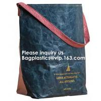 Buy cheap Recycle Waterproof Zipper Nylon PP Insulated Cold Food Heated Keep Warm Lunch Bag Food Delivery Tyvek Cooler Lunch Bag from wholesalers