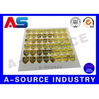 Buy cheap Gold Security Anti Counterfeiting Custom Hologram Sticker With Serial Number from wholesalers