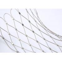 Buy cheap 7 X 7 Wire Rope Netting , Stainless Steel Rope Mesh For Aviary Zoo Enclosure from wholesalers