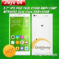 Buy cheap Octa Core MT6592 5.7 FHD 1920*1080 1GB/32GB WCDMA 3G 13MP NFC OTG GPS Metal Body Shenzhen Jiayu G6 Mobile Phone from wholesalers