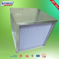 China Optical Instrument Industry High Efficiency Air Filter Unit Galvanized Frame on sale