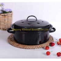 Buy cheap mini size cast iron black hand-painted enamel cookware stock pot from wholesalers