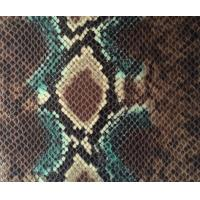 Quality Eco Friendly Anti AgingFaux Snakeskin Vinyl Fabric For Fashion Bags for sale