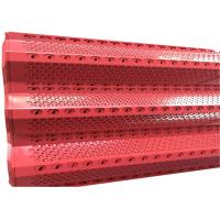 Buy cheap Good Flame Retardancy Windbreak Fence Panels Dust Proof Red / Blue Color from wholesalers