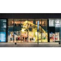 Buy cheap Cheap Price P25 Glass Wall LED Screen Indoor High Brightness Full Color Transparent Led Mesh Curtain from wholesalers