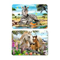 Buy cheap Decorative Animal PET 3D Lenticular Plastic Table Mats Offset Printing from wholesalers