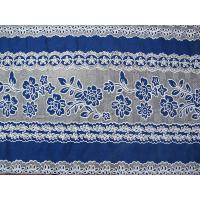 Elegant Cotton Polyester Lace Fabric Burnout Lace Orange for Lady Dress / Wedding Dress(CY-DK0031)