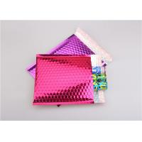 Buy cheap Pink Metallic Bubble Mailers / Bubble Wrap Envelopes For Electronic Products from wholesalers