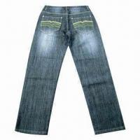 Buy cheap Men's Jean, Made of 100% Cotton, Breathable and Water-resistant from wholesalers