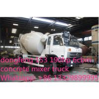 Buy cheap dongfeng 153 190hp 6cbm 4*2 small concrete mixer truck for sale from wholesalers