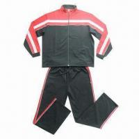 Buy cheap Sports suit/men's jogging suit, contrast panel from body to sleeves from wholesalers
