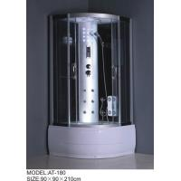 Buy cheap Painted glass Back panel curved quadrant shower enclosure and tray Syphon included product