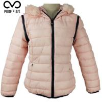 Buy cheap Windproof Ladies Light Padded Jacket , Casual Womens Padded Coat With Fur Hood from wholesalers