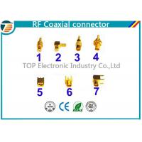 Buy cheap PCB Assembled RG174 RF Coaxial Connector MCX Gold Plated Less Weight product