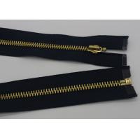 12 Inch Metal Separating Zipper Black Polyester Tape For Trousers / Hometextile /