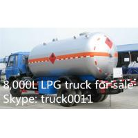 Buy cheap 5000L -5500L DFAC LPG Bobtail Tanker Truck With Dispenser Filling Gas Machine, hot sale propane gas dispensing truck from wholesalers