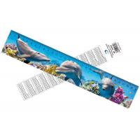 Buy cheap Deep Images 3D Dolphin Cartoon Scale Lenticular Photo Printing / PET Plastic Straight Ruler from wholesalers