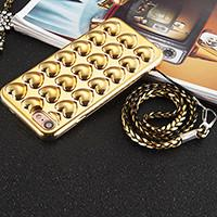 Quality Plating TPU 3D Love Heart Cell Phone Case Back Cover for iPhone 7 7 plus 6 6s 6 Plus 6s Plus with Lanyard for sale