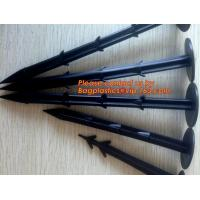 Buy cheap plastic nail, pins for ground cloth,garden nails,silt fence, plastic garden pegs ,ground nails,mulch pegs for gardening from wholesalers