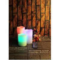 Buy cheap SET OF 3 FLAMELESS LED CANDLES WITH 18 FUNCTION REMOTE from wholesalers