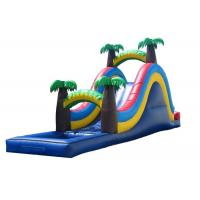 Buy cheap Wonderful Palm Tree Inflatable Wet Slide For Small Kids / Fun Water Slide from wholesalers