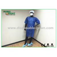 Buy cheap Short Sleeved lab coats Disposable Isolation Gowns Dark Blue from wholesalers