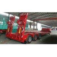 Buy cheap Triple axle 80 tons low bed semi trailer for sale with rail and leaf-spring from wholesalers