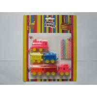 Buy cheap 6 Pcs Colour Mixture Multi Colored Candles Add 6pcs Train Shaped Toy Party Candles from wholesalers