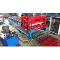 Buy cheap Chain Drive Type Glazed Tile Roll Forming Machine 8-10m / Min Working Speed from wholesalers