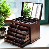 Buy cheap Walnut  Wood Jewely Box for Home Storage & Organization With Mirror from wholesalers