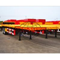 Buy cheap 2 Axles Container Semi Trailer 40 Feet Flatbed Semi Trailer FUWA / BPW Axle from wholesalers