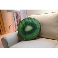 Buy cheap Kiwi Berry Large Sofa Pillows Back Cushions Brown / Green Soft Velvet Fabric from wholesalers