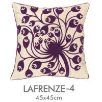 Buy cheap Purple Flower Zippered Applique Pillow Covers Replacement , Decorative Throw Pillows from wholesalers