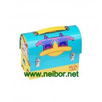 Buy cheap metal treasure chest tin lunch box with handle and lock from wholesalers