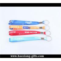 China OEM cheap custom any color polyester material keychain wrist straps on sale
