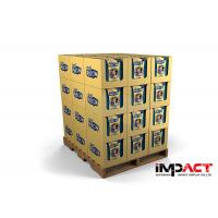Buy cheap Kraft Paper Stackable Cardboard Pallet Sleeves , Pallet Display Case For Pillow Promotion from wholesalers