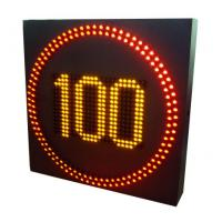 Buy cheap City Streets Digital Speed Limit Signs , Led Speed Signs Refresh Rate 120Hz from wholesalers