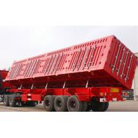 Buy cheap 3 axle 60T carbon steel side dump semi trailer / end dump semi trailer for sale from wholesalers