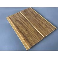 5mm Thickness Ceiling PVC Panels For Kitchen Two Golden Line Wooden Color