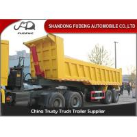 Buy cheap High Strength Steel End Dump Truck With BPW Axle / 30 Tons Semi Trailer Dump Truck from wholesalers