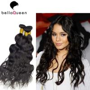 Buy cheap Women Water Wave European Virgin Human Hair Weaving Of Natural Black 1B product
