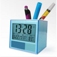 Buy cheap Home Decor Desk Digital Clock Pen Stand Holder with Penholder Date Temperature for Classroom, Hotel from wholesalers