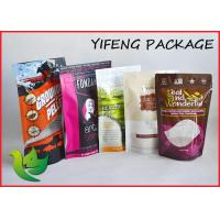 Buy cheap Fruit Powder Printed Stand Up Ziplock Pouches 1000g White Shiny Aluminum Foil product