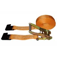 Buy cheap 5000kg Polyester Webbing Slings With Flat Hook / Cargo Lashing Strap from wholesalers