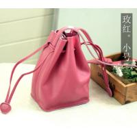 Buy cheap Red Leather Handbags Small Drawstring Bag from wholesalers