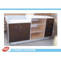 Buy cheap MDF Laminated Shop Cash Counter With Drawers , Common Style Retail Desk Counter from wholesalers