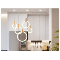 Buy cheap Modern Circle Acrylic Villa Stair Hotel Dining Room Drop Lamp Lighting Fixture from wholesalers