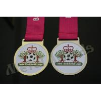 Buy cheap Football Logo Crown Awards Medals , Multi Colored Custom Medallion Coins from wholesalers